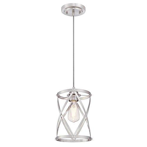 (Westinghouse Lighting 6362300 Isadora One-Light Mini, Brushed Nickel Finish Indoor Pendant,)