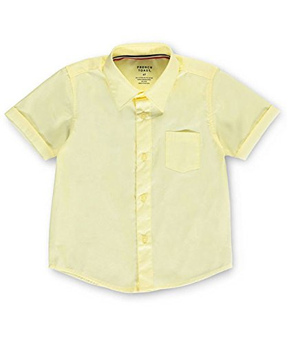 French Toast Little Boys' S/S Button-Down Shirt - yellow, 5