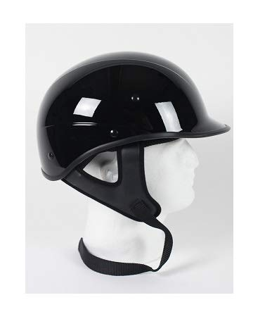 Amazon.com: Dot Polo estilo Gloss Black Casco de Moto, Negro ...