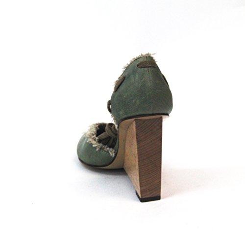 7 para todo tipo de abierto-una sola cara la humanidad cojín con forma de cuña en el talón de tobilleras con peso cordones tipo libro con función de, estándar del Reino Unido 4, de £168 verde - verde claro