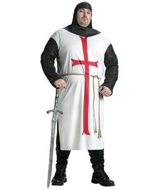 Fun World templar knight size costume, Plus Size