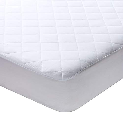 (Milddreams Twin Mattress Pad Protector Topper Cover - Twin Size Bed Pad (39x75 inches + Stretches to 16