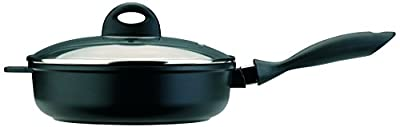 BergHOFF CookNCo 2.5-Qt. Cast Covered Deep Skillet, Silver/Black
