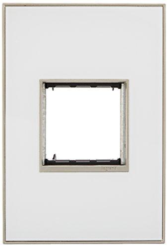 PASS & SEYMOUR AWM1G2MW4 Adorne, 1 Gang, White, Mirror Wall Plate