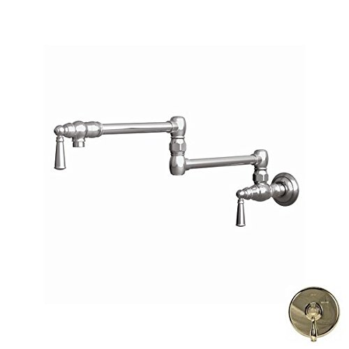 Newport Brass 2470-5503/24A Jacobean Wall Mounted Pot Filler with Dual Handles, French Gold