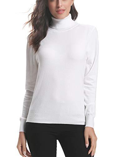 A Invernali Ideale Eleganti Caldo Bianco Donna Maglieria Dolcevita Girocollo Lunga Regalo Maglione Vestito Lungo 2 collo Abollria Alto Collo Manica Alto E Pullover Maglioni SwFfY