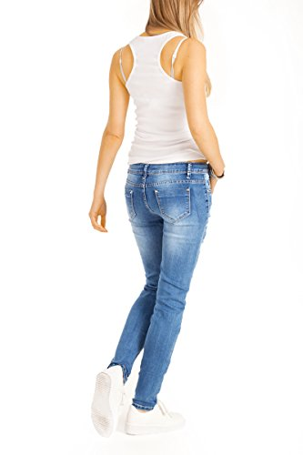 bestyledberlin - Vaqueros - skinny - para mujer Trashed Blue