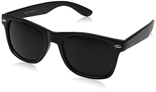 zeroUV ZV-8452e Wayfarer Sunglasses, Black
