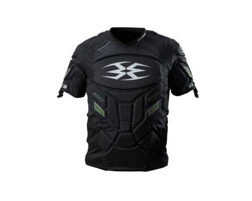 Empire Paintball Grind Pro Chest Protector, Large/X-Large, Black/Green by Empire Paintball