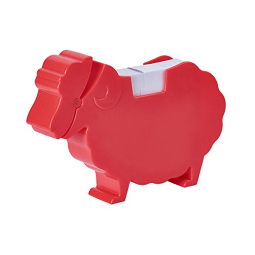 Sheep Note - MSFGJZM Animal Note Clip Multi-functional Plastic Memo Included Holder Note Stand Organizer (Sheep red)