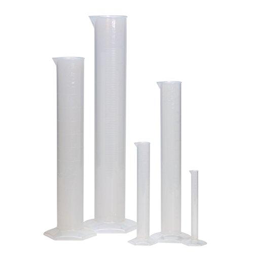 AZLON NB1203 Plastic, Set of 6 Cylinders with Moulded Grads, Polypropylene Moulded Cylinder