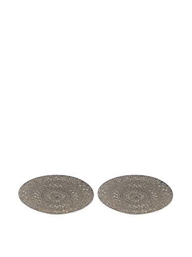 Pierced Metal Tray - Set of 2 - 2 Piece Pierced Lighting