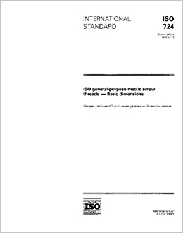 ISO 724:1993, ISO general-purpose metric screw threads - Basic