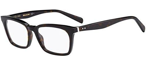 Celine Cl 41345 Women's Eyeglasses 0086 Dark Havana - Glasses Celine Reading