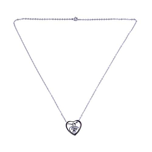 Peigen Pendant Necklaces for Women Ladies Fashion Double Heart Rose Gold Crab Cylinder Necklace Souvenir Ashes Jewelry Gifts for Girlfriend