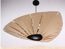 Haoaijia Pendant Light Pendant Lights Round Restaurant Veneer Bedroom Lamps Inn (Large Oak Veneer)