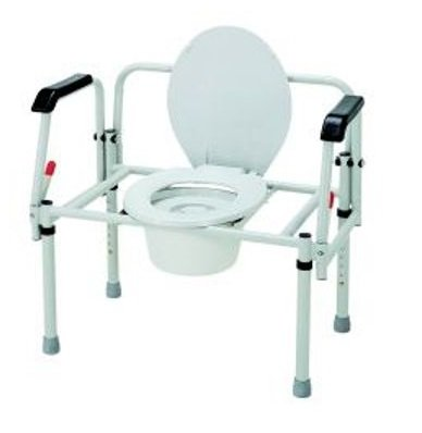 Bariatric Commode Chair Fixed Arm Steel Frame - Item Number C314/2 - 2 Each / Case