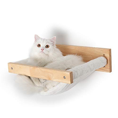 FUKUMARU Cat Hammock Wall Mounted Large Cats Shelf – Modern Beds and Perches – Premium Kitty Furniture for Sleeping…