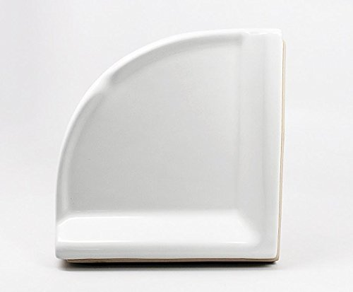 Daltile Corner Shower Shelf Wall Accessory White 8-1/2