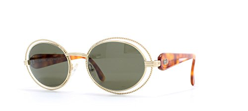 Fendi 198 357 Gold and Brown Authentic Women Vintage Sunglasses