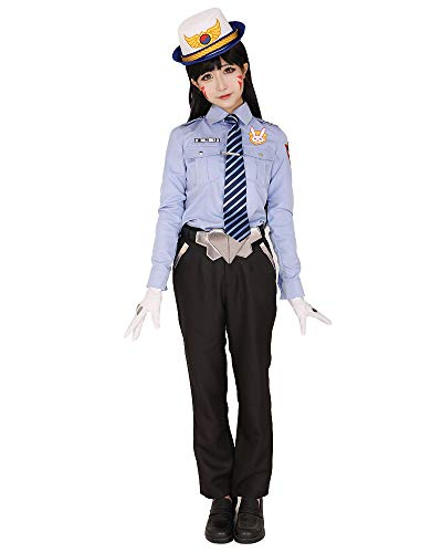 Comic Con Outfit (Miccostumes Women's Officer Dva Cosplay Costume Outfit (M))
