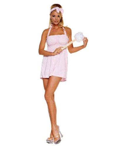 Bubble Bath Halloween Costumes (Sexy Bubble Bath Girl Costume,Pink,Medium / Large)