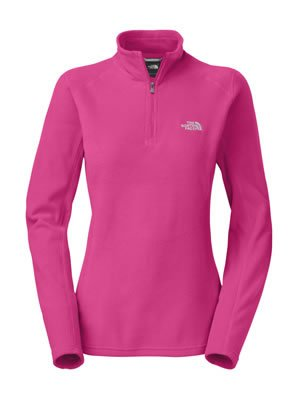 Womens North Face Glacier 1/4 Zip Passion Pink Size Large