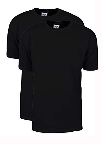 MHS02_L Max Heavy Weight Cotton Short Sleeve T-Shirt Black L 2pk by Shaka