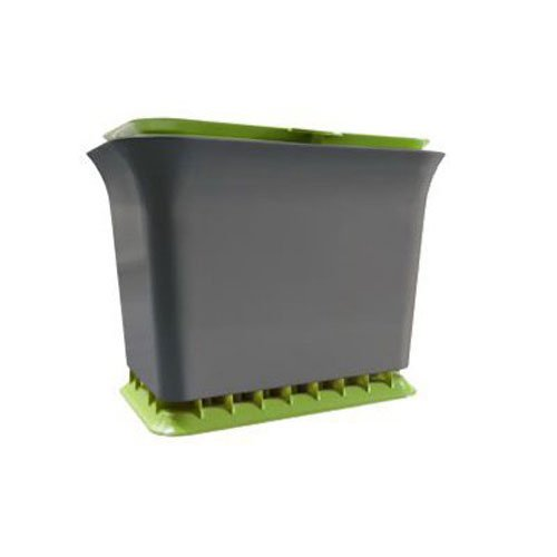 Odor Free Compost Bucket - Full Circle Fresh Air Odor-Free Kitchen Compost Bin, Green Slate