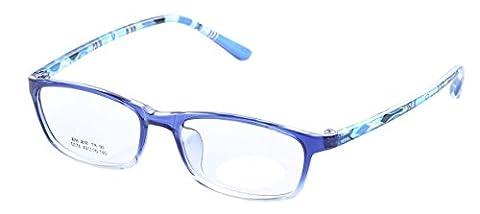 De Ding Boys Girls Eyeglasses Multicolored Kids Tr90 Frame (blue) - Eyeglasses Light Blue Frame