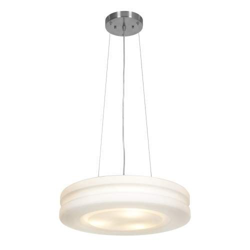 Access Lighting C50191BSOPLEN1313B Altum Aircraft Cable Pendant, Brushed Steel & Opal - D 19.5 x H 4 in.
