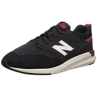 New Balance Men's 009 V1 Sneaker, Black/Velocity Red, 11.5 M US
