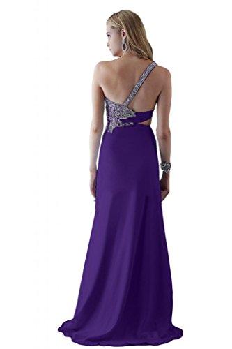 Toscana sposa general-case un-spalla kraftool Chiffon stanotte vestimento per damigella Party Ball Bete vestimento viola 36