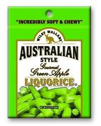 Wiley Wallaby Gourmet Green Apple Licorice Ten Ounce Bags - 10 / Case