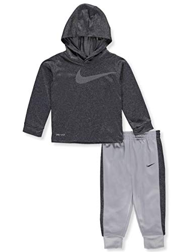 NIKE Baby Boys' Dri-Fit 2-Piece Pants Set Outfit - Wolf Gray, 24 Months
