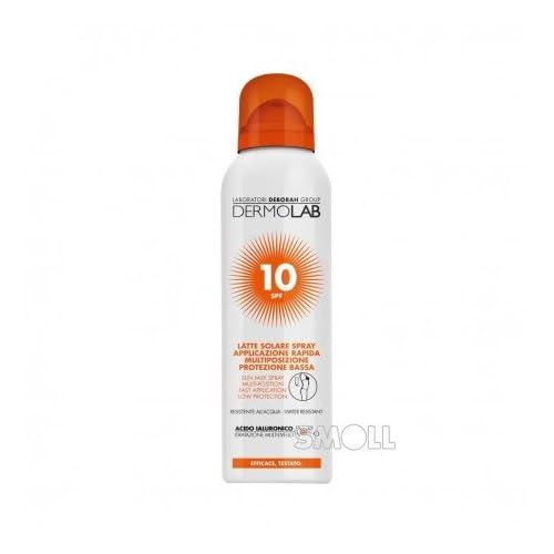 Dermolab solaire lait spray corps–Visage SPF10150ml