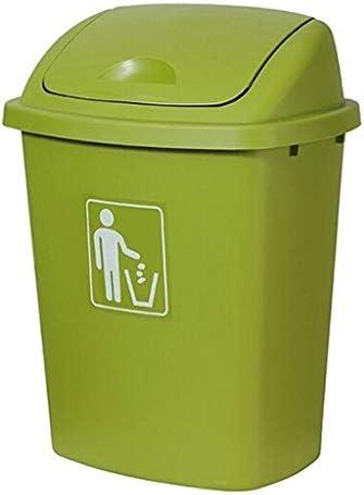 ゴミ袋 ゴミ箱用アクセサリ 大容量のプラスチックゴミ箱屋外のゴミ箱は帽子の設計適当な工場住宅の学校公園の公共の場所を弾くことができます キッチンゴミ箱 (Color : Green, サイズ : 30l)