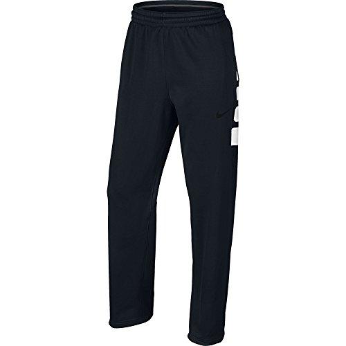 Men's Nike Elite Stripe Basketball Pants Black/White Size Medium