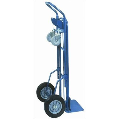 Wesco-210140-Steel-2-in-1-Deluxe-Industrial-Hand-Truck-35-Caster-Solid-Rubber-Wheels-1000-lb-Load-Capacity-20-12-Width-x-53-Height-x-19-Depth