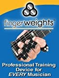 Premium Finger Weights For Musicians - Workout For Guitar Therapy - Hand Strengthener And Lifting Exerciser - Set of 5 - Orange NEW - 100% Money Back Guarantee.
