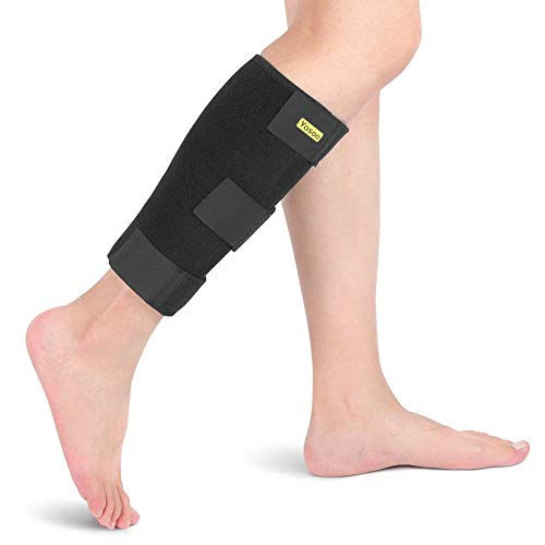 Yosoo Health Gear Calf Compression Brace, Adjustable Shin Splint Support Wrap Leg Sleeve Calf Injury Prevention Brace for Blood Circulation Improvement and Leg Injury Recovery, Fits Men and Women