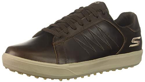 Skechers Men's Drive 4 LX Waterproof Golf Shoe, Chocolate 10 M US