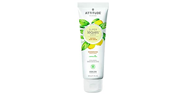 ATTITUDE Super Leaves Crema Corporal Regeneradora 240ml: Amazon.es ...
