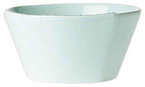 Vietri LAS-2602A Lastra Stacking Cereal Bowl, Aqua - Aqua Cereal Bowl