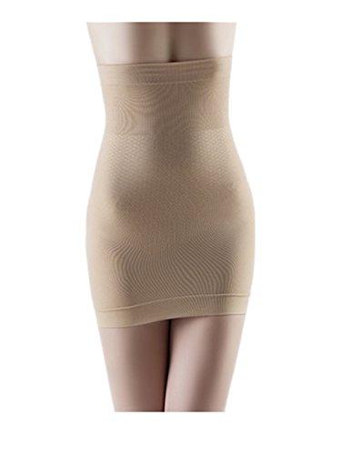 1 Shaper Slip (Leright Women's Half Slip Bridal High Waisted Underwear Seamless Waist Shaper, Nude, M(US SIZE 0-2))