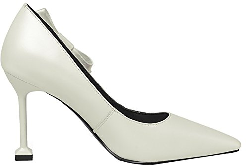 A White Calaier Di Cagey Piedi 9cm Stiletto Punta Shoes Court Women Off on Slip qOHwEAxq