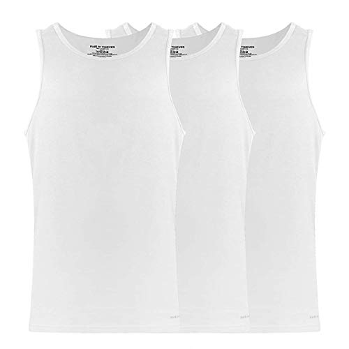 Pair of Thieves Slim Fit Men'sTaglessTank Tops, 3 PackSuper Soft,BreathableSleevelessA-Shirtfor Men,AMZ Exclusive
