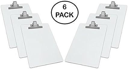 Acrimet Blanc Bloc Notes A4 Premium Clip En Métal En Isorel