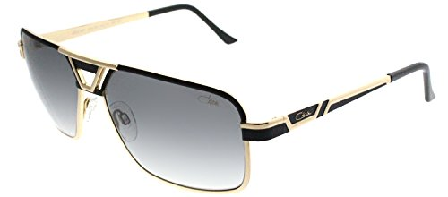 Cazal 9071 Sunglasses 001SG Black Gold / Grey Gradient Lens 61 - Cazal Gold Sunglasses