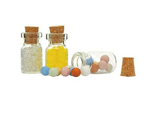 Ari_Mao Pequeñas Botellas de Vidrio de Corcho Decoradas Que Desean Paquete de Botellas de 5 Piezas: Amazon.es: Hogar